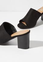Cotton On - Colette heeled mule - black