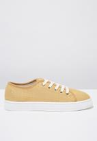 Cotton On - Canvas creeper plimsoll - tan