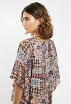 edit - Volume sleeve blouse - multi