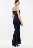 Missguided - Cami lace maxi dress - navy