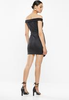 Missguided - Scuba bardot mini dress - black