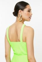 Missguided - Asymmetric flare leg jumpsuit - green