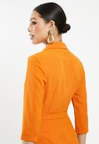 Missguided - Blazer playsuit - orange