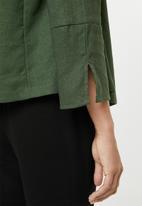edit - Linen blend Soft jacket - green