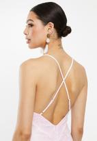 Missguided - Cross back ladder insert mini dress - pink