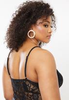 Missguided - Curve lace pipe detail bodysuit - black