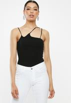 Missguided - Multi strap knitted bodysuit - black