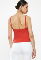 Missguided - Button cami - red