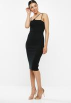 Missguided - Multi wrap midi dress - black