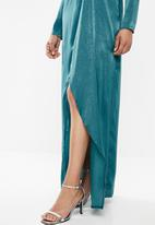 Missguided - Wrap front dress - blue