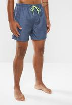 Brave Soul - Albion swim shorts - navy & white