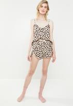 Superbalist - Cami & shorts set -  animal print