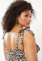 Missguided - Curve leopard print cup mini dress - brown & black