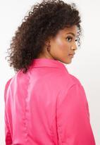 Missguided - Curve asymmertic blazer dress - pink
