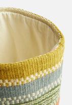 Sixth Floor - African colourful wool basket - multi