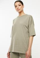 Missguided - Oversized tee and jogger co-ord set - khaki