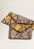 MANGO - Snake effect purse - multi