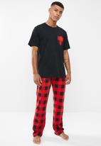 Brave Soul - Ron sleep set - black & red