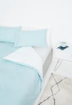 Sixth Floor - Reversible cotton duvet set - duck egg/white