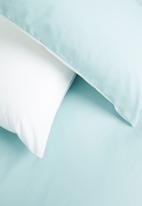 Sixth Floor - Reversible cotton duvet set - duck egg/white