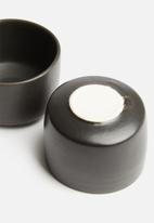 Urchin Art - Seasoning pinch pot set of 2 - charcoal