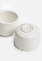 Urchin Art - Seasoning pinch pot set of 2 - white