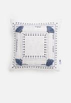 Sixth Floor - Leah cushion cover - blue