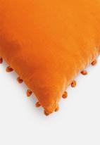 Sixth Floor - Sofia velvet cushion cover - orange