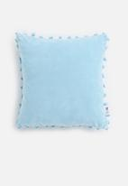 Sixth Floor - Sofia velvet cushion cover - blue
