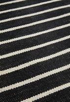 Sixth Floor - Woven striped bath mat - black & white