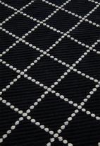 Sixth Floor - Black diamond rug - black