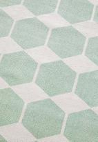 Sixth Floor - Hexagon printed runner - seafoam