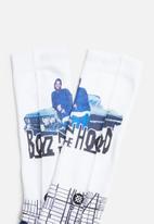 Stance Socks - South central socks - white & blue