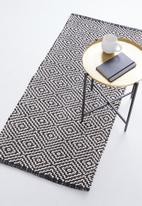 Sixth Floor - Stassie woven runner - black & white