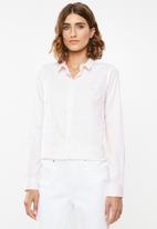 POLO - Gina long sleeve striped shirt - pink & white