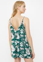 Superbalist - Printed sleep floral rompur - green