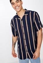Cotton On - Festival short sleeve shirt - navy