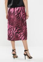 Vero Moda - Christine satin skirt - purple & black