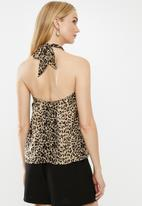 Vero Moda - Lila halter-neck top - black