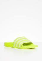adidas Originals - Adilette slides - green & grey