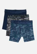 Under Armour - Charged cotton 6in 3 pack novelty briefs - multi