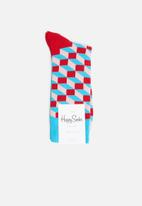 Happy Socks - Filled optic sock - red & pink