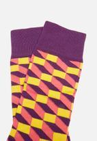 Happy Socks - Filled optic sock - multi