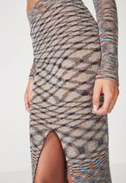 Cotton On - Cleo knit tube skirt - multi