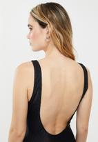 Cotton On - Henley one piece cheeky - black