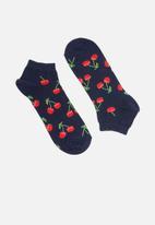 Happy Socks - Cherry low sock - navy