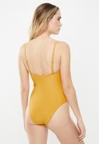Cotton On - Straight neck one piece cheeky  - yellow