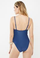 Cotton On - Straight neck one piece cheeky  - navy