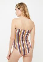 Cotton On - Strapless one piece cheeky - multi