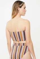 Cotton On - Longline bandeau bikini top - multi